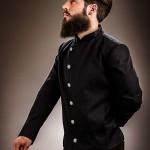 barba espesa acabada en punta