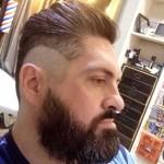barba redondeada con patilla angular
