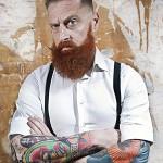 barba larga y ancha