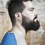 Barba de corte recto en las mejillas