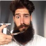 Barba larga y espesa
